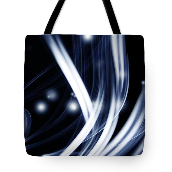 Blue lines  Tote Bag by Les Cunliffe