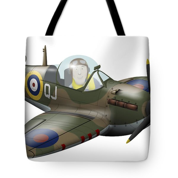 Cartoon Illustration Of A Royal Air Tote Bag by Inkworm