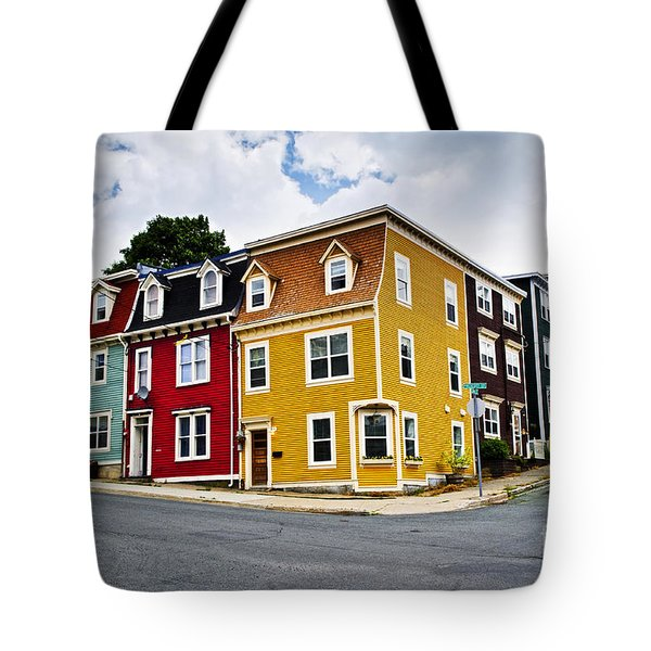 Colorful houses in St. John's Newfoundland Tote Bag by Elena Elisseeva