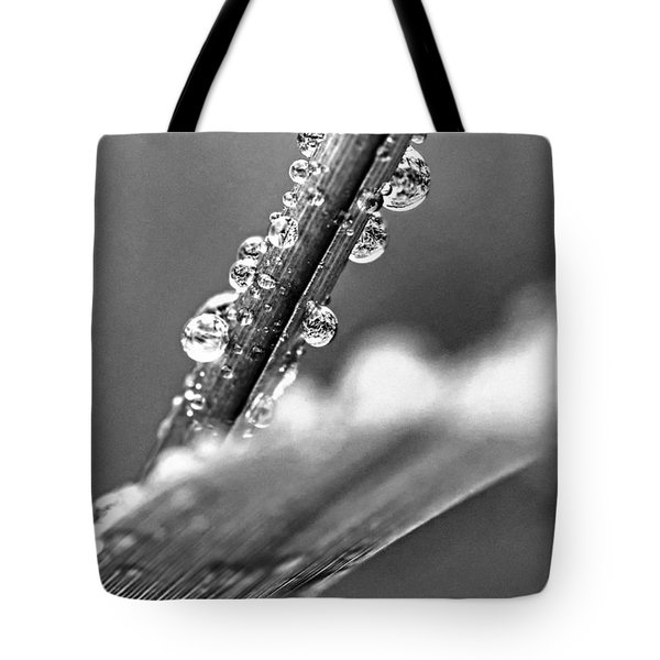 Raindrops On Grass Tote Bag by Elena Elisseeva