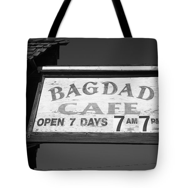 Route 66 - Bagdad Cafe Tote Bag by Frank Romeo