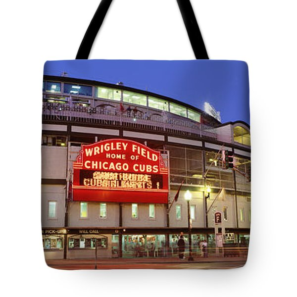 Usa, Illinois, Chicago, Cubs, Baseball Tote Bag by Panoramic Images