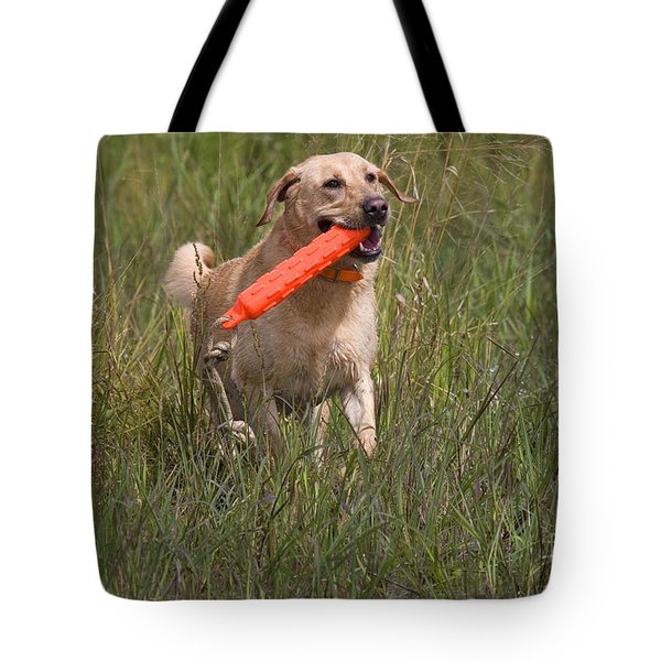 Yellow Labrador Tote Bag by Linda Freshwaters Arndt