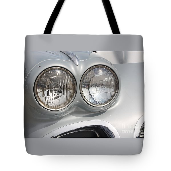 61 Corvette-grey-headlights-9235 Tote Bag by Gary Gingrich Galleries