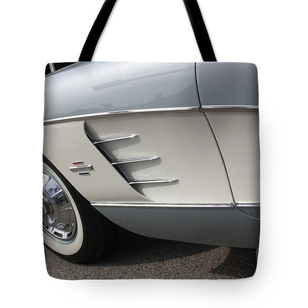 61 Corvette-grey-sidepanel-9241 Tote Bag by Gary Gingrich Galleries