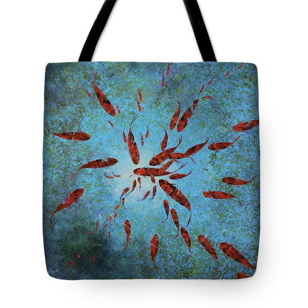 63 Pesci Rossi Tote Bag by Guido Borelli