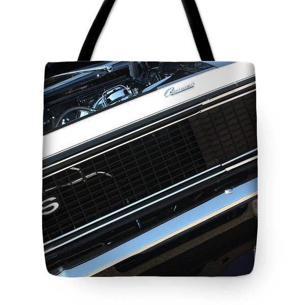 67 Black Camaro Ss Grill-8039 Tote Bag by Gary Gingrich Galleries
