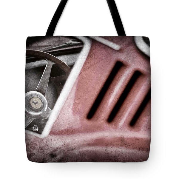 1966 Ferrari 275 Gtb Steering Wheel Emblem Tote Bag by Jill Reger