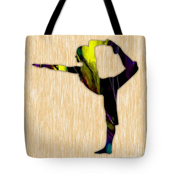 Fitness Yoga Tote Bag by Marvin Blaine