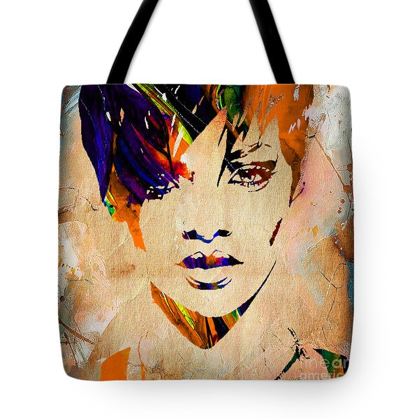 Rihanna Collection Tote Bag by Marvin Blaine