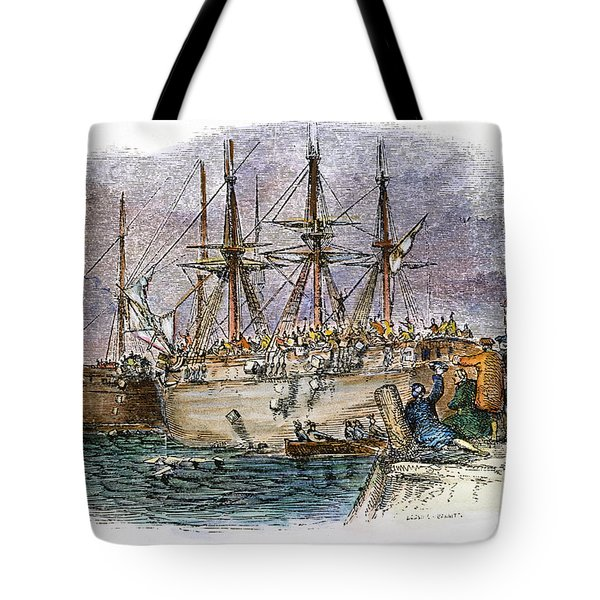 The Boston Tea Party, 1773 Tote Bag by Granger