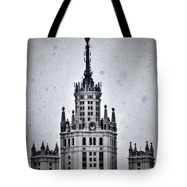 7 Towers Of Moscow Tote Bag by Stelios Kleanthous