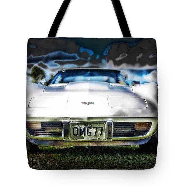 77 Corvette Tote Bag by Mountain Dreams