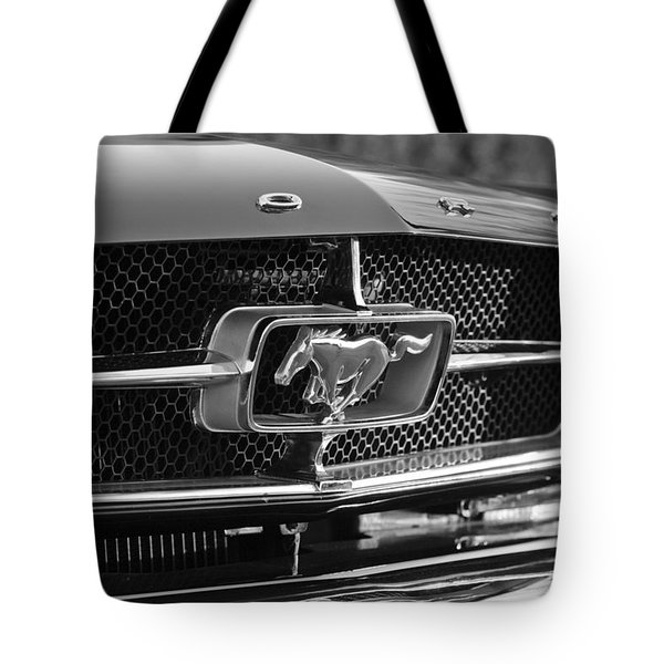 1965 Shelby Prototype Ford Mustang Grille Emblem Tote Bag by Jill Reger