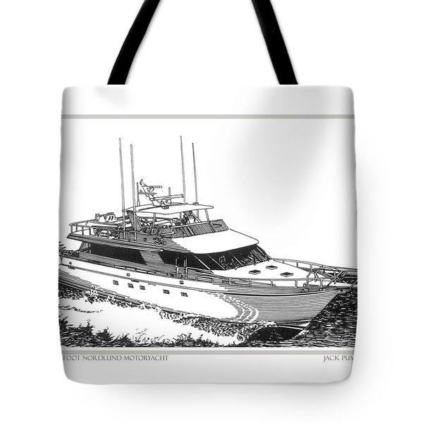 85 foot Custom Nordlund Motoryacht Tote Bag by Jack Pumphrey