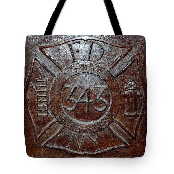 9 11 01 F D N Y 343 Tote Bag by Rob Hans