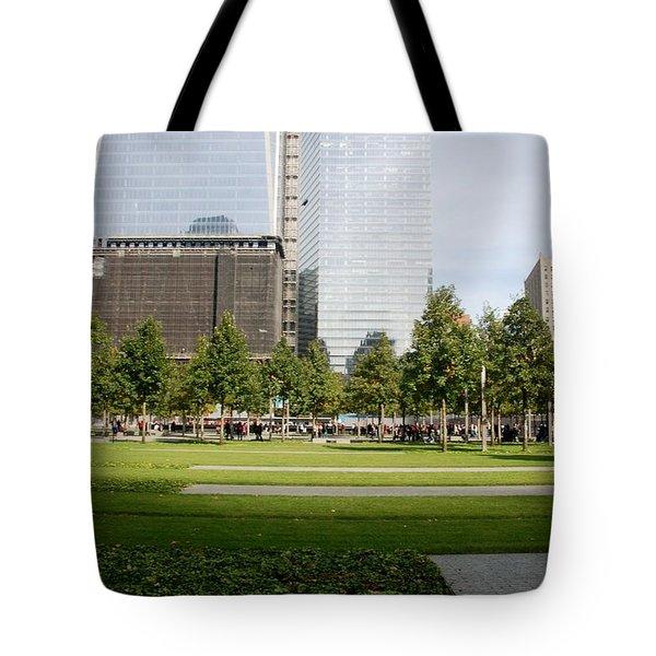 9/11 Grass Tote Bag by Rob Hans