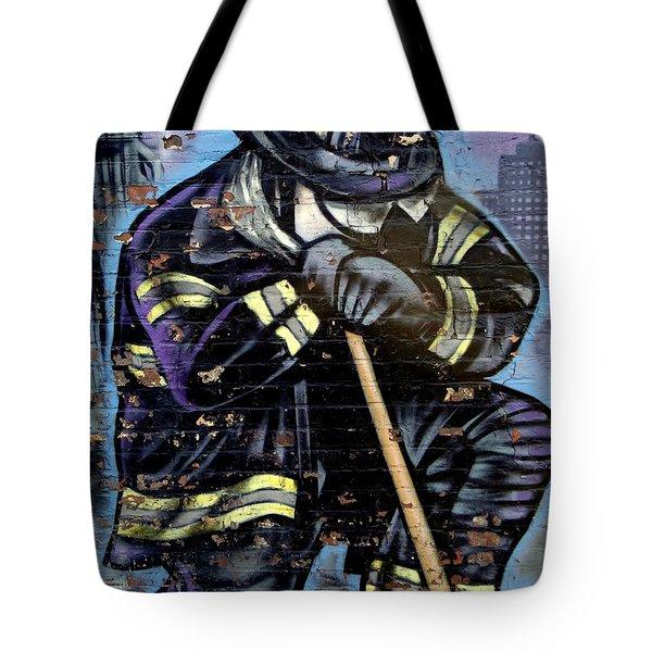 9-11 Hero Tote Bag by Ed Weidman