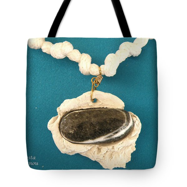 Aphrodite Anadyomene  Necklace Tote Bag by Augusta Stylianou