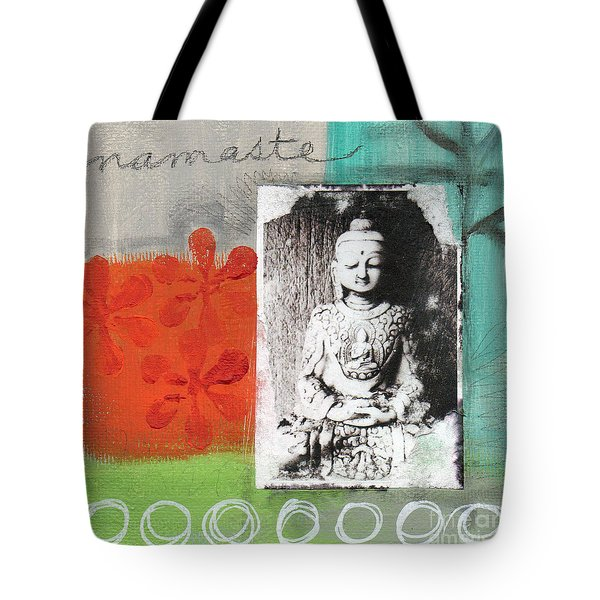 Namaste Tote Bag by Linda Woods