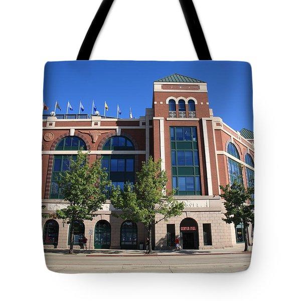 Texas Rangers Ballpark In Arlington Tote Bag by Frank Romeo