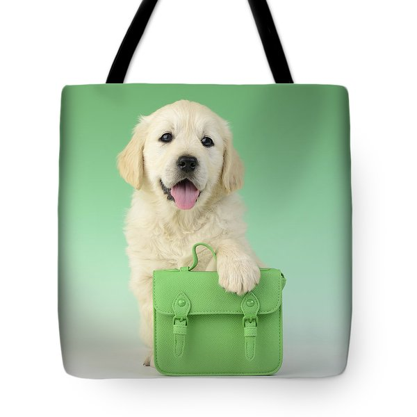9 To 5 Labrador Tote Bag by Greg Cuddiford