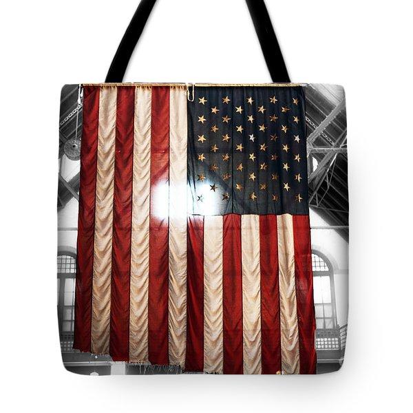 911 Flag Tote Bag by John Rizzuto