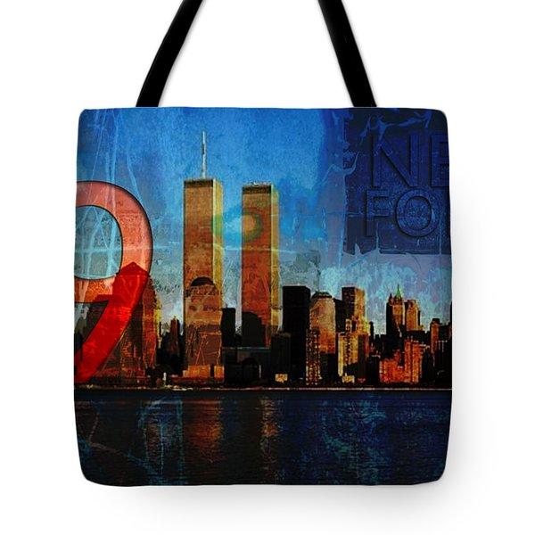 911 Never Forget Tote Bag by Anita Burgermeister