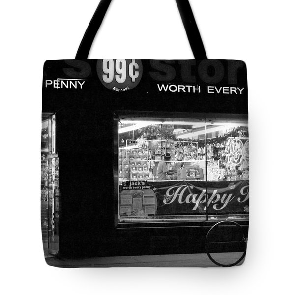 99 Cents - Worth Every Penny Tote Bag by Miriam Danar