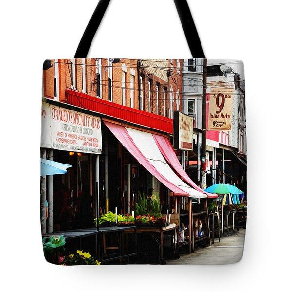 9th Street Italian Market Philadelphia Tote Bag by Bill Cannon