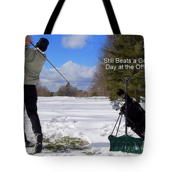 A Bad Day on the Golf Course Tote Bag by Frozen in Time Fine Art Photography