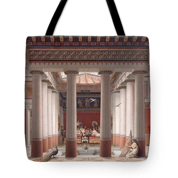 A Banquet In Ancient Greece Tote Bag by Nordmann