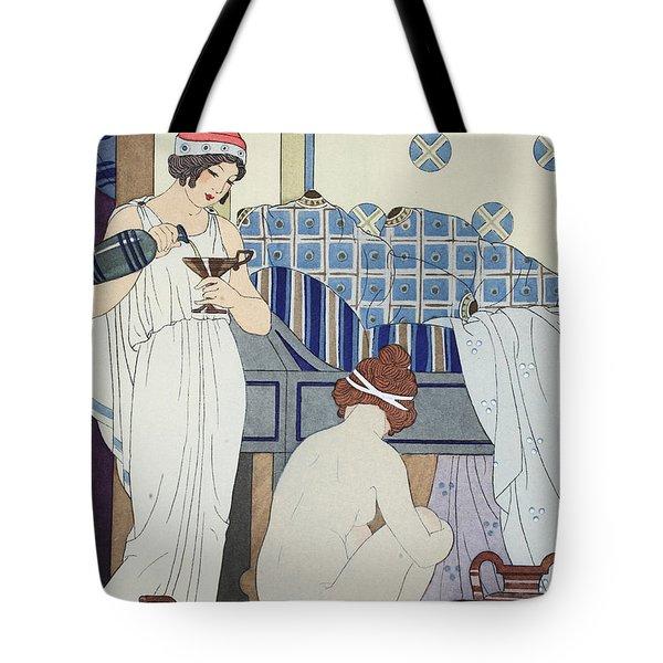 A Bath Seat Tote Bag by Joseph Kuhn-Regnier