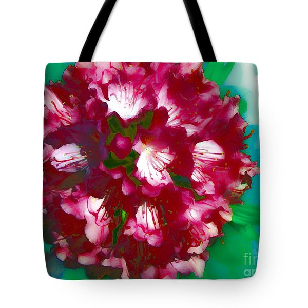 A Beautiful Rhododendron Tote Bag by Annie Zeno