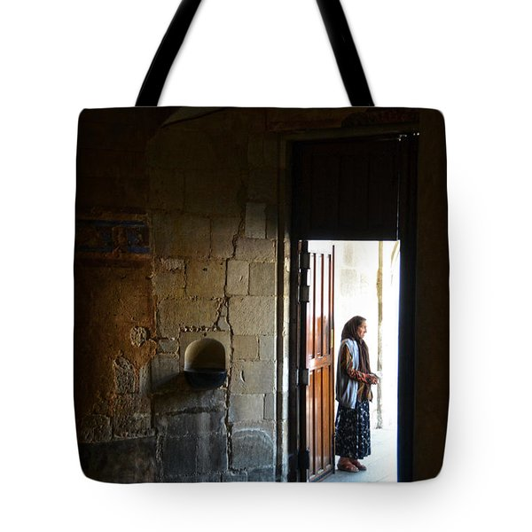 A Beggar At The Door Of A Church Tote Bag by RicardMN Photography