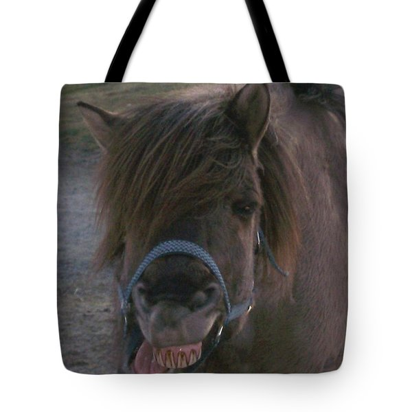 A big smile Tote Bag by Hilde Widerberg