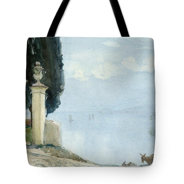 A Blue Day On Como Tote Bag by Joseph Walter West