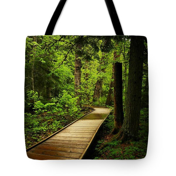A Boardwalk To Paradise Tote Bag by Jeff Swan