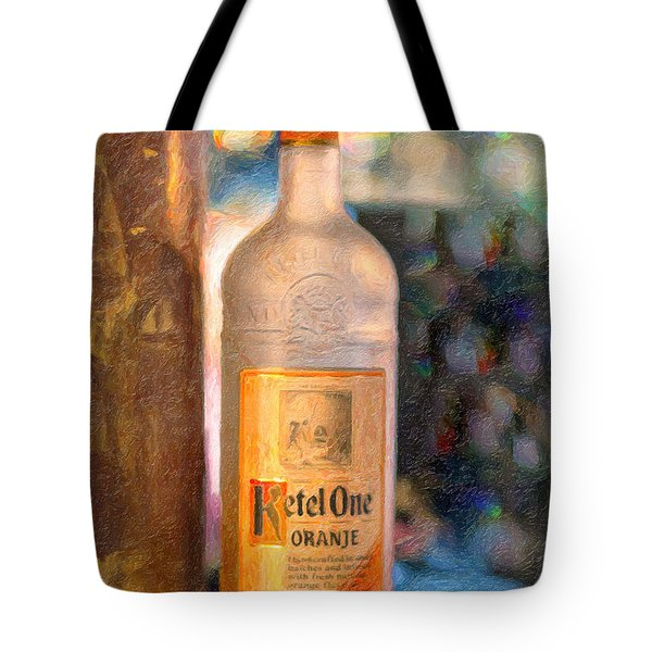 A Bottle Of Ketel One Tote Bag by Angela A Stanton