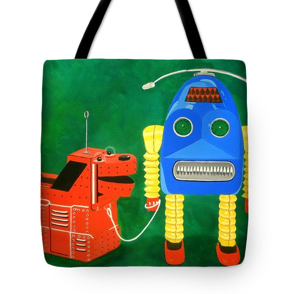A Boy And His Dog Tote Bag by Karyn Robinson