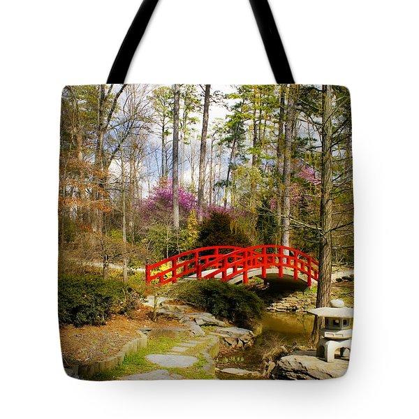 A Bridge To Spring Tote Bag by Benanne Stiens