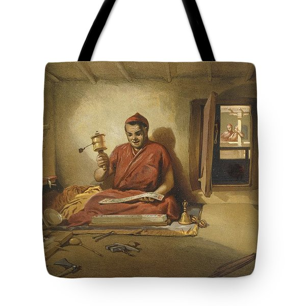 A Buddhist Monk, From India Ancient Tote Bag by William 'Crimea' Simpson