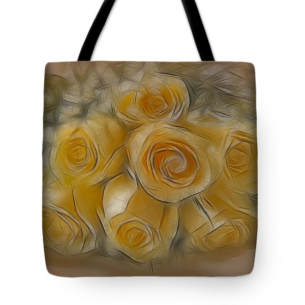 A Bunch Of Yellow Roses Tote Bag by Susan Candelario