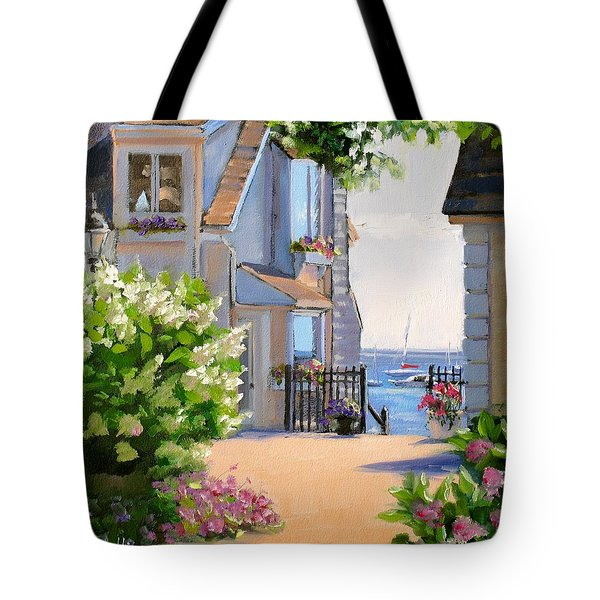 A Cape Cod Paradise Tote Bag by Laura Lee Zanghetti