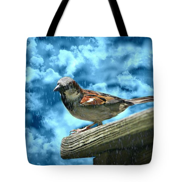 A Chance Of Showers Tote Bag by Barbara S Nickerson