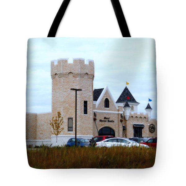 A Cheese Castle Tote Bag by Kay Novy