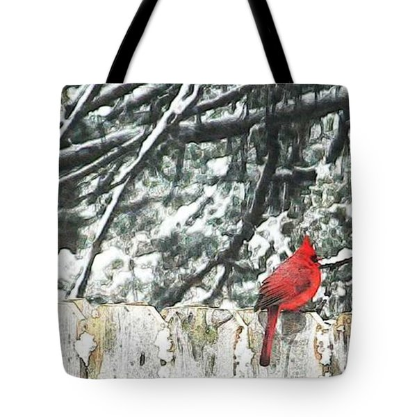 A Christmas Cardinal Tote Bag by PainterArtist FIN