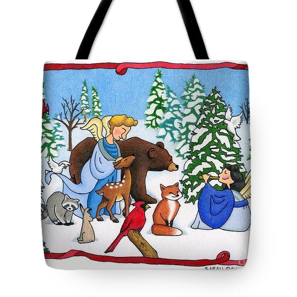 A Christmas Scene 2 Tote Bag by Sarah Batalka
