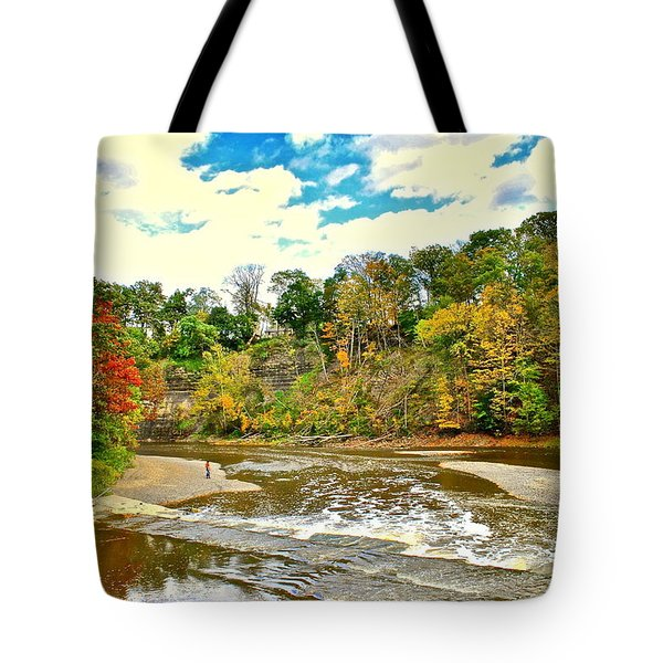 A Cleveland Autumn Tote Bag by Frozen in Time Fine Art Photography