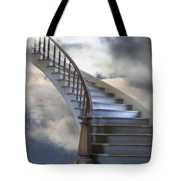 A Composite Entitled Staircase Tote Bag by Robert Bartow